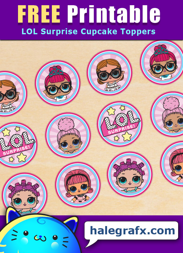 FREE Printable LOL Surprise Cupcake Toppers