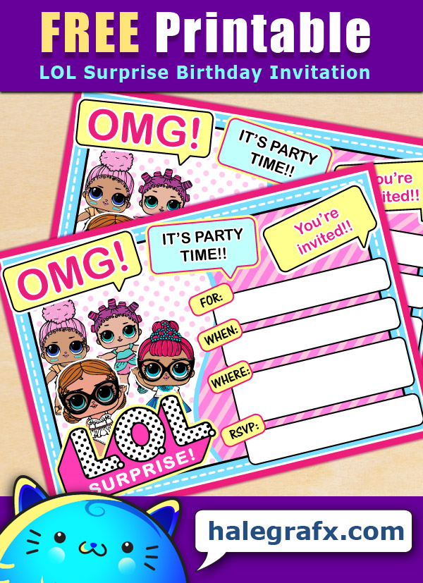Free Printable Lol Surprise Birthday Invitation