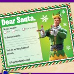 FREE Printable Fortnite Codename Elf Santa letter