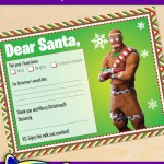 FREE Printable Fortnite Gingerbread Merry Marauder Santa letter