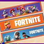 Free Printable Fortnite Themed Water Bottle Labels