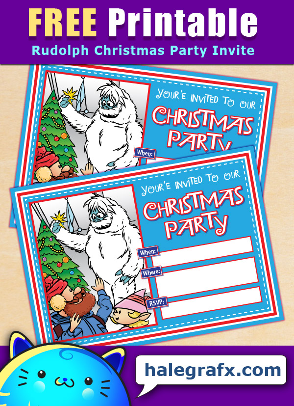 FREE Printable Rudolph Bumbles Christmas Party Invitation