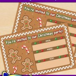 FREE Printable Gingerbread Christmas Party Invitation