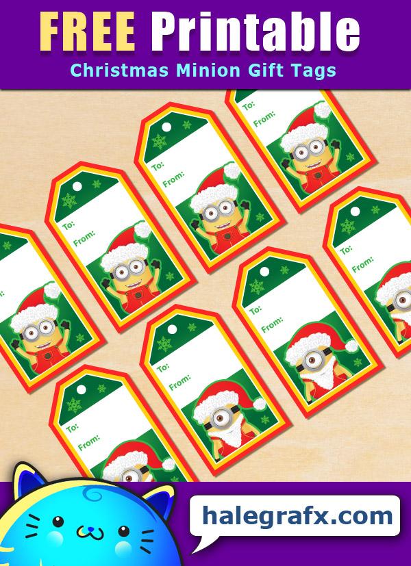 FREE Printable Christmas Minion Gift Tags