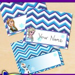 FREE Printable Frozen Place Cards