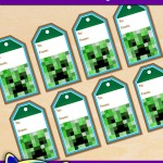 FREE Printable Minecraft Gift Tags for Christmas and Birthdays