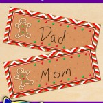 FREE Printable Christmas Gingerbread Place Cards