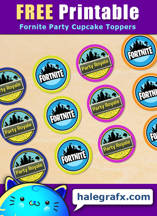 Free Printable Fortnite Party Cupcake Toppers