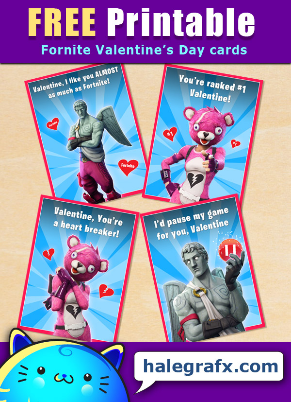 picture relating to Fortnite Printable referred to as Absolutely free Printable Fortnite Valentines