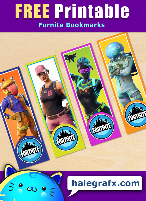graphic about Fortnite Printable Images named Totally free Printable Fortnite Bookmarks