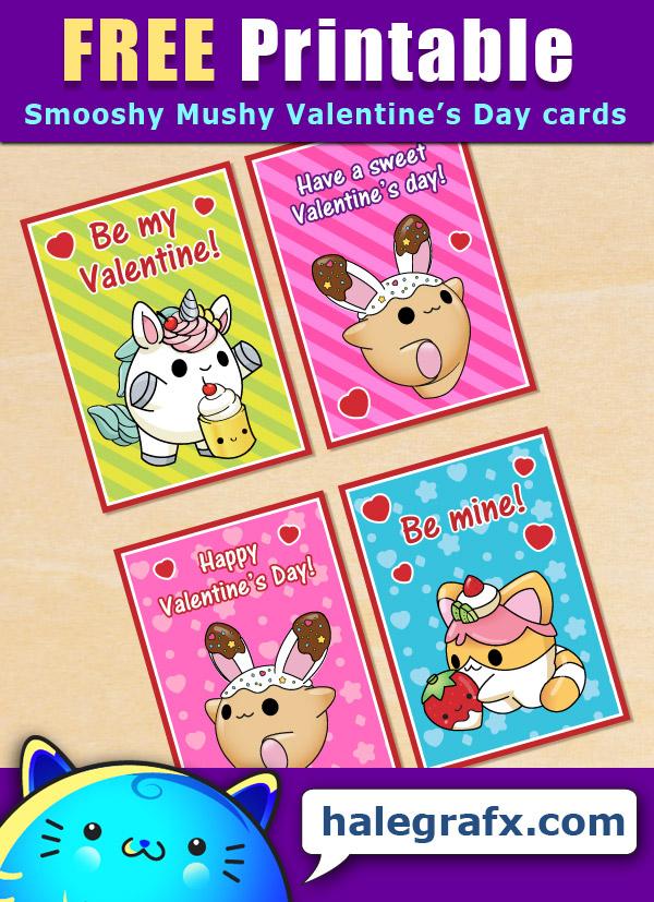 FREE Printable Smooshy Mushy Valentines