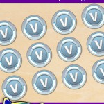Free Printable Fortnite V-Bucks Cupcake Toppers