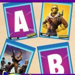 FREE Printable Fortnite Alphabet Banner Pack