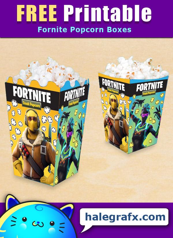 FREE Printable Fortnite Popcorn Box