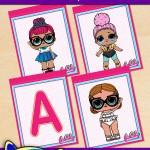 FREE Printable LOL Surprise Alphabet Banner Pack