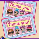 FREE Printable LOL Surprise Thank You Card