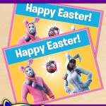 FREE Printable Fortnite Easter Greeting Card