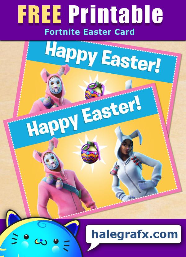 FREE Printable Fortnite Easter Greeting Card