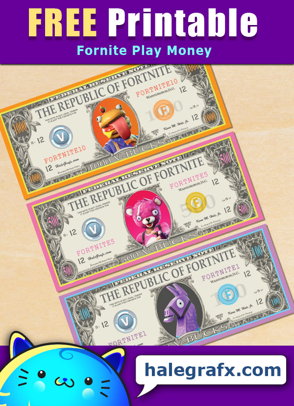 FREE Printable Fortnite Play Money