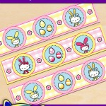 FREE Printable Easter Hello Kitty Water Bottle Labels
