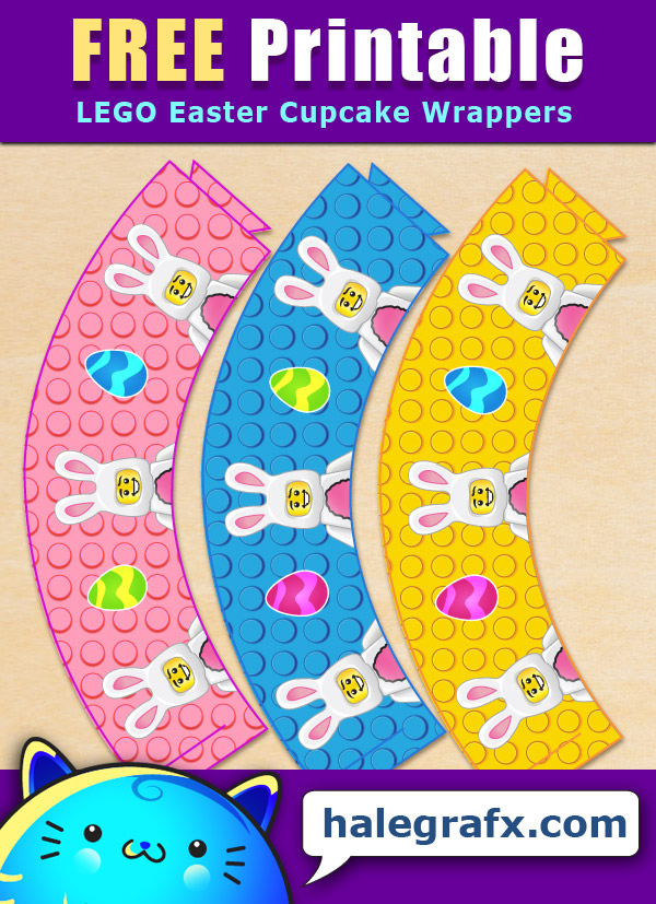 FREE Printable LEGO Easter Cupcake Wrappers