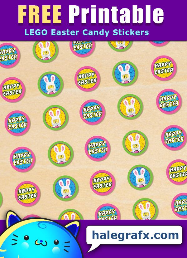 FREE Printable LEGO Easter Hershey's Kisses Stickers