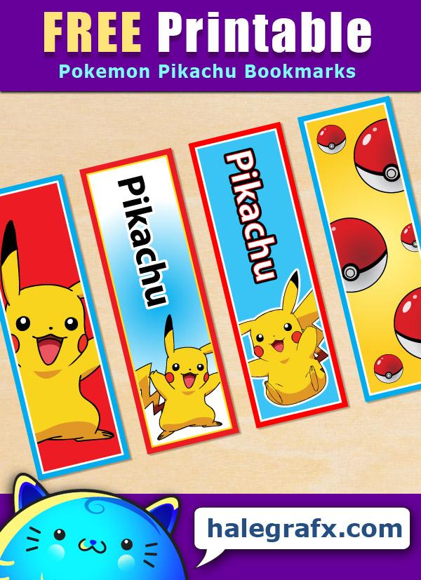 FREE Printable Pokémon Pikachu Bookmarks