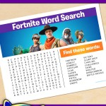 FREE Printable Fortnite Word Search