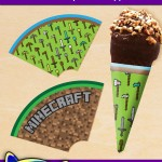 FREE Printable Minecraft Ice Cream Cone Wrappers