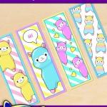 FREE Printable Alpaca Llama Bookmarks