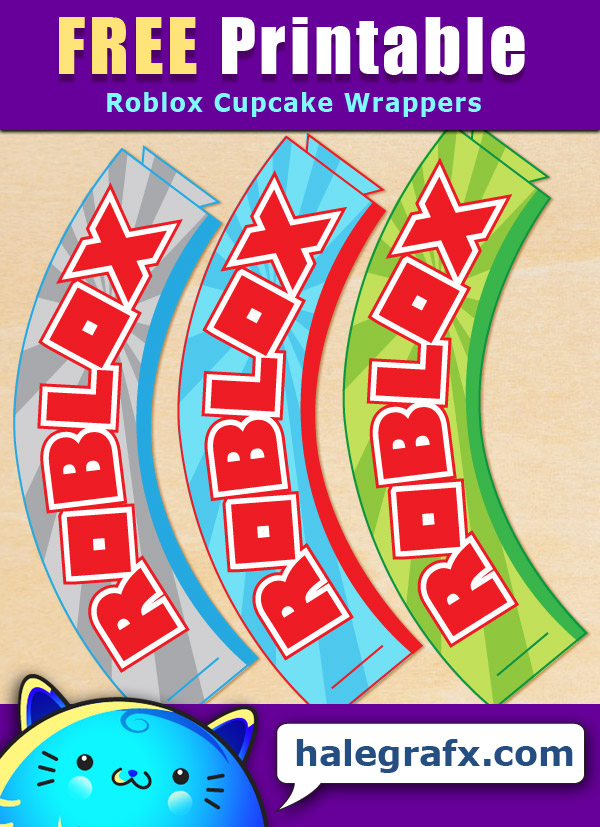 FREE Printable Roblox Cupcake Wrappers