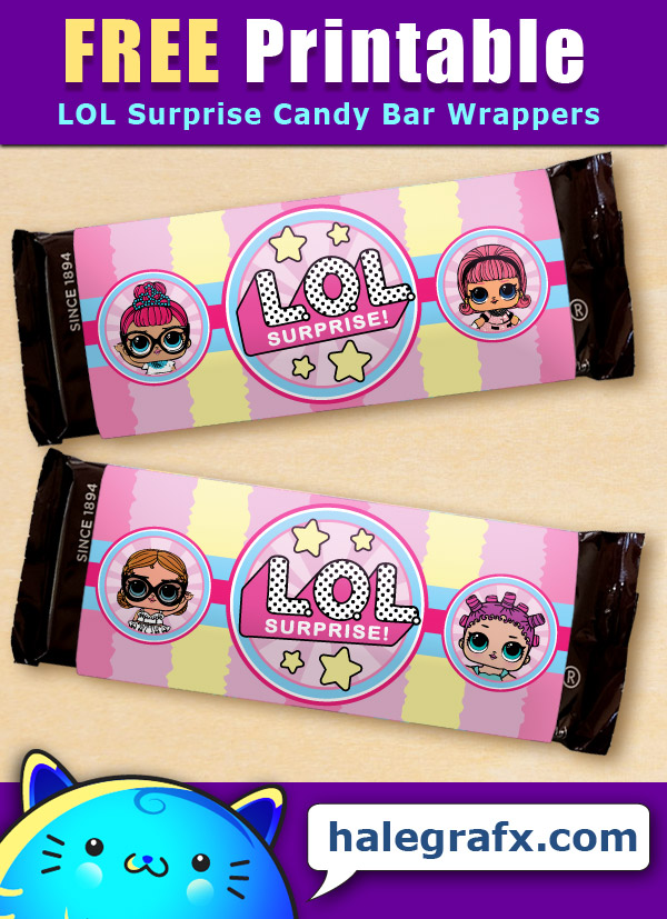 FREE Printable LOL Surprise Candy Bar Wrappers