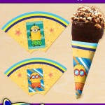 FREE Printable Summer Minions Ice Cream Cone Wrappers