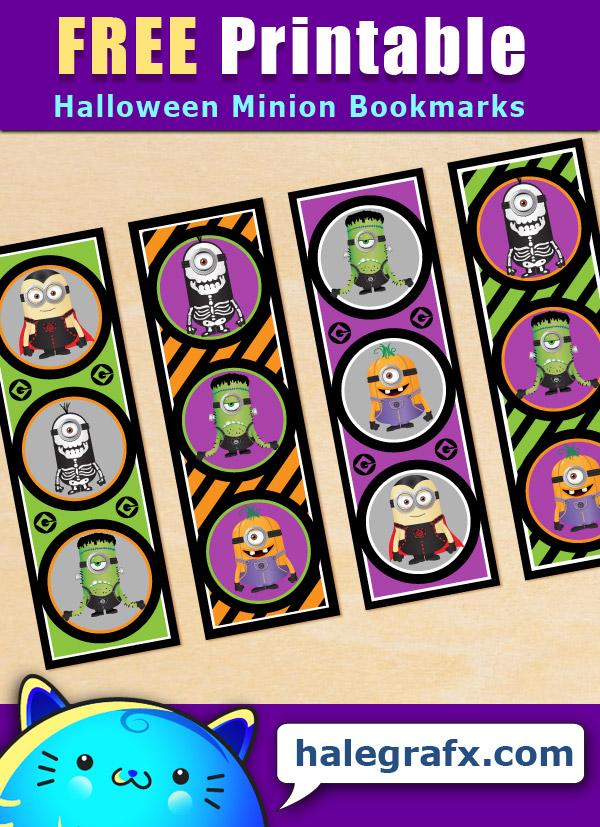 FREE Printable Halloween Minion Bookmarks