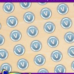 FREE Printable Fortnite V-bucks Candy Stickers