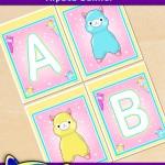 FREE Printable Alpaca Alphabet Banner Pack