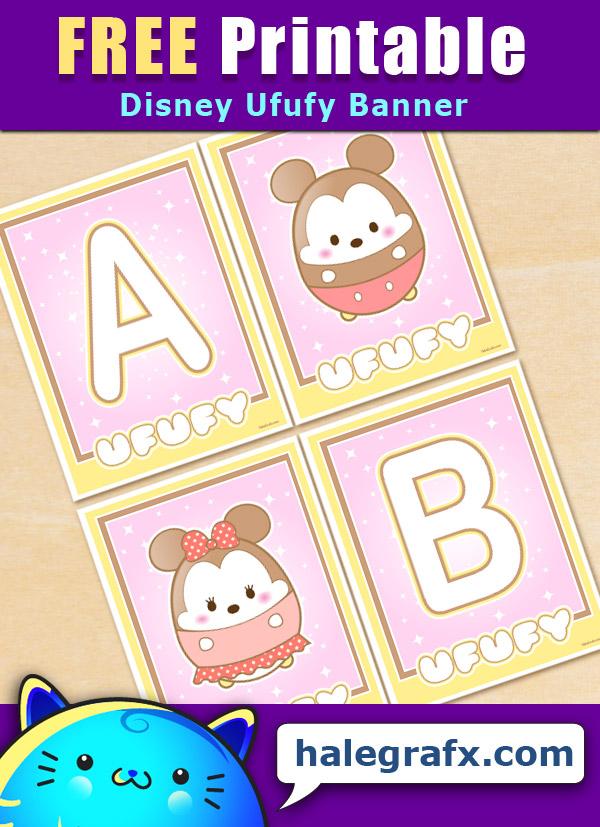 FREE Printable Disney Ufufy Alphabet Banner Pack