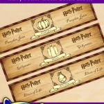 Free Printable Harry Potter Water Bottle Labels