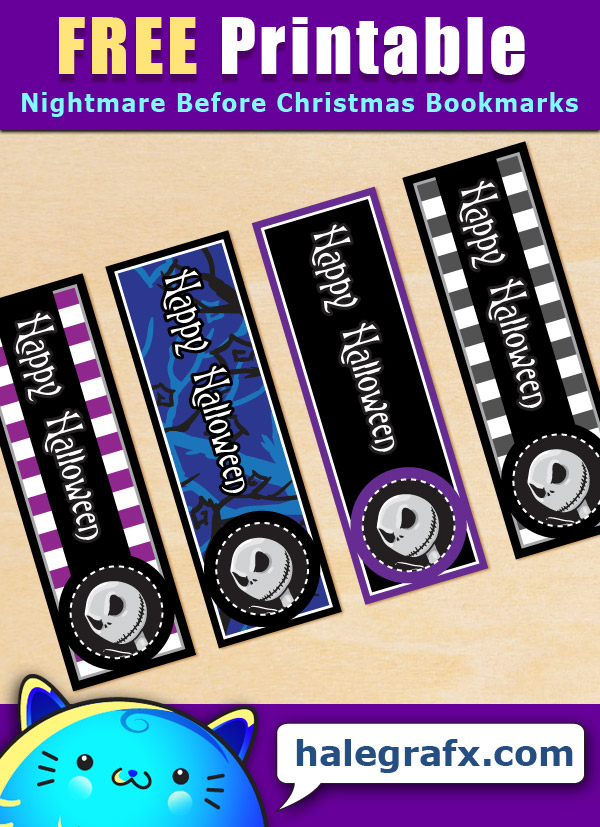 FREE Printable Nightmare Before Christmas Bookmarks