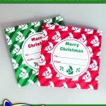 FREE Printable Fortnite Christmas Gift Card Holder