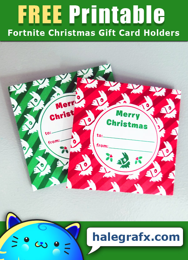 free printable fortnite christmas gift card holder free printable fortnite christmas gift