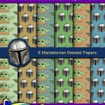 FREE Printable Star Wars Mandalorian Digital Paper Pack
