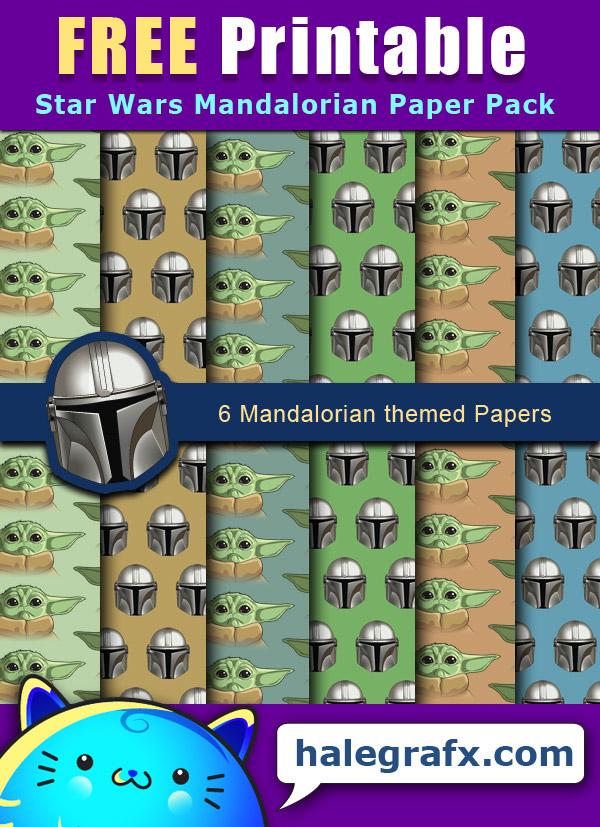 FREE Star Wars Mandalorian Digital Paper Pack