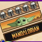 FREE Printable Star Wars Mandalorian Water Bottle Labels