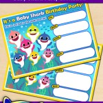 FREE Printable Baby Shark Birthday Invitation
