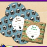 FREE Printable Star Wars Mandalorian Christmas Gift Card Holders