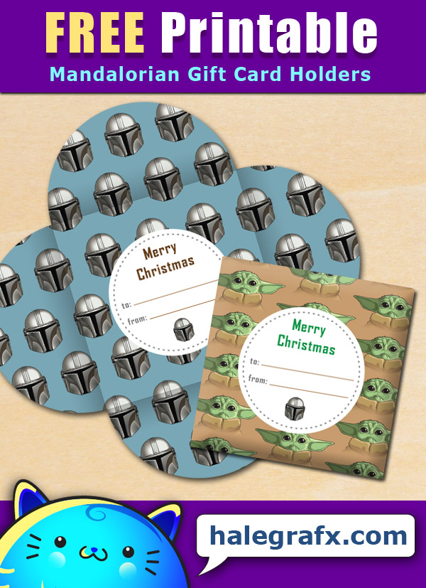 FREE Printable Mandalorian Christmas Gift Card Holder