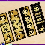 FREE Printable Bendy and the Ink Machine Bookmarks