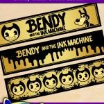 Free Printable Bendy and the Ink Machine Water Bottle Labels