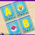 FREE Printable Baby Shark Alphabet Banner Pack